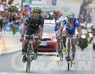 Giro d'Italia: Amador vince a Cervinia, Hesjedal in rosa