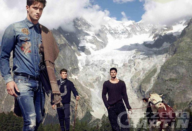 Moda, il western di Dolce&Gabbana ai piedi del Monte Bianco