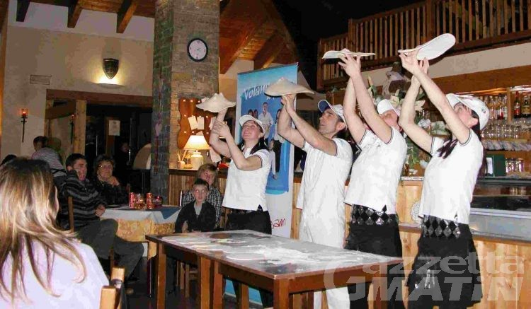 Pizzaioli acrobatici ospiti all'Avalon di Introd
