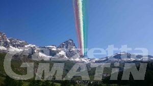 Frecce Tricolori sul Cervino                                             (Foto Max Altini)