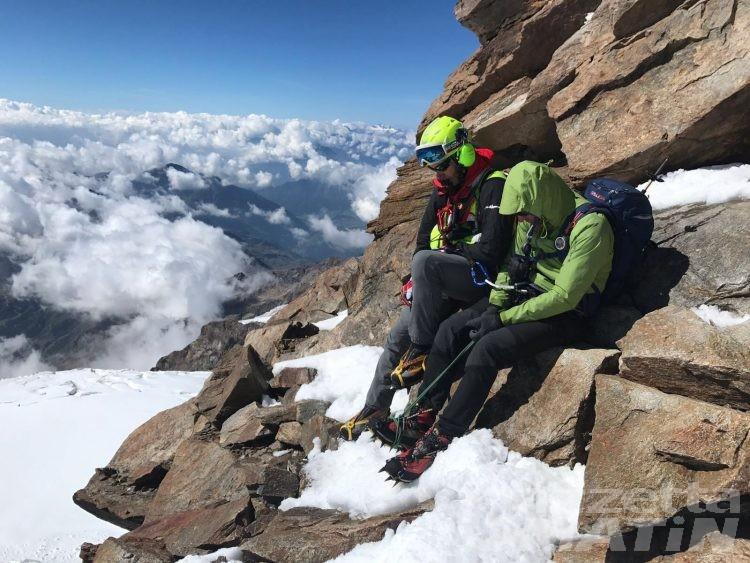 Due scialpinisti bloccati al bivacco Giordano Balmenhorn, si procederà via terra