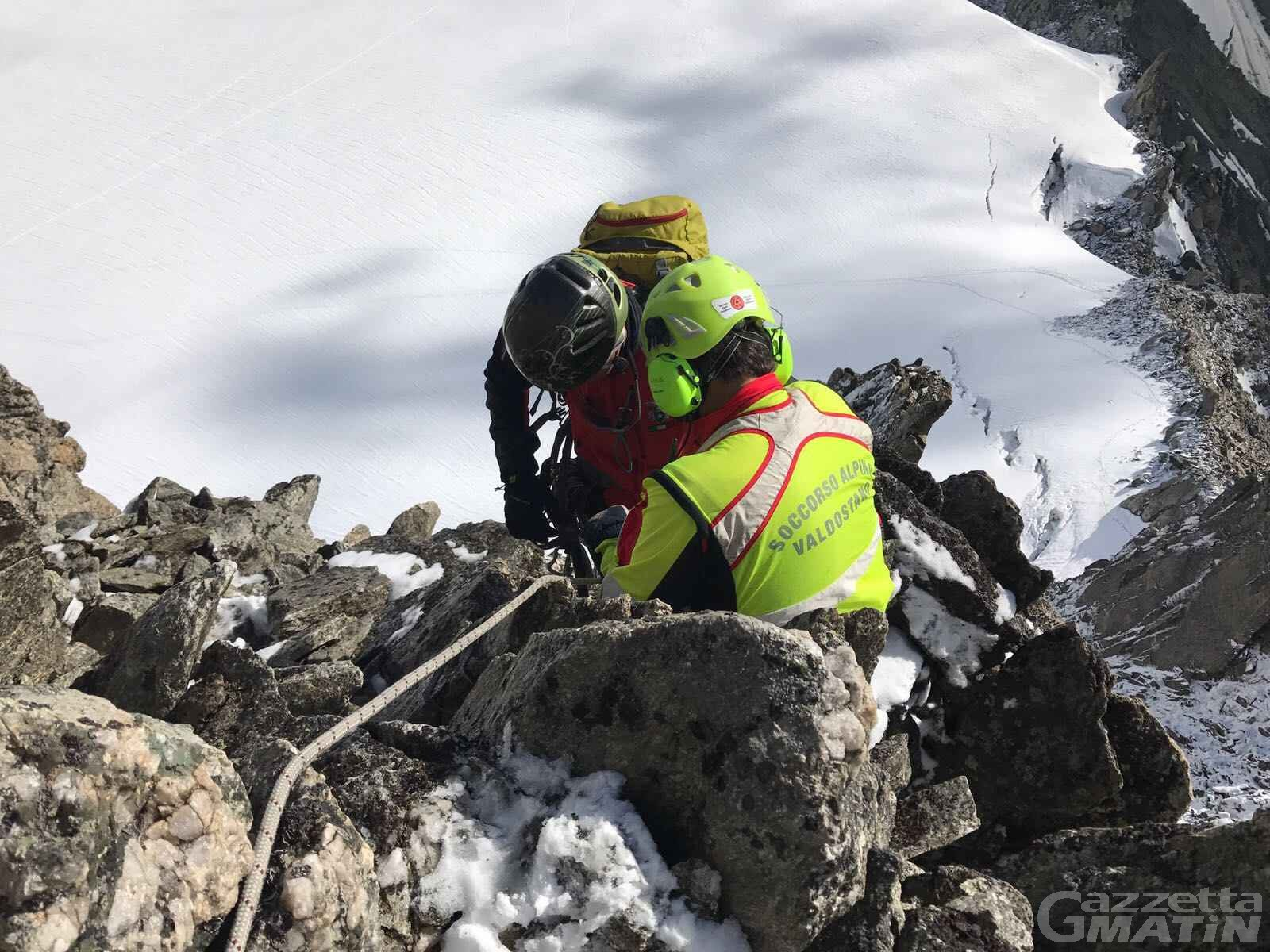 Incidenti in montagna: due feriti sull'Aiguilles de Marbrées