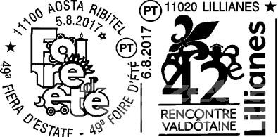 Poste Italiane: annulli filatelici per la Foire d'Eté e la Rencontre Valdôtaine