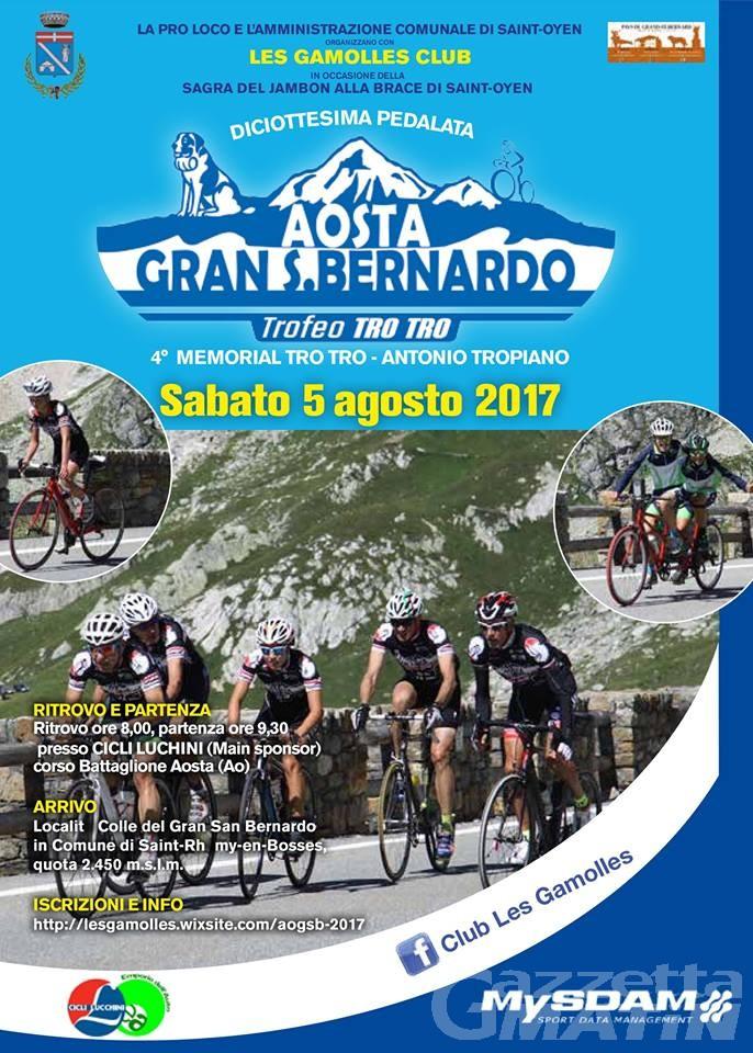 Ciclismo: torna la pedalata solidale al Gran San Bernardo