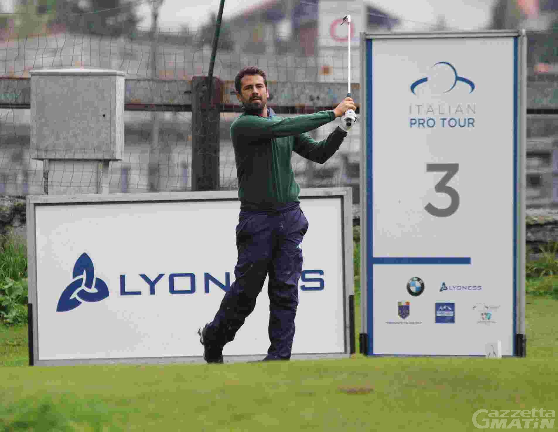 Golf: Nunzio Lombardi in vetta al Cervino Open