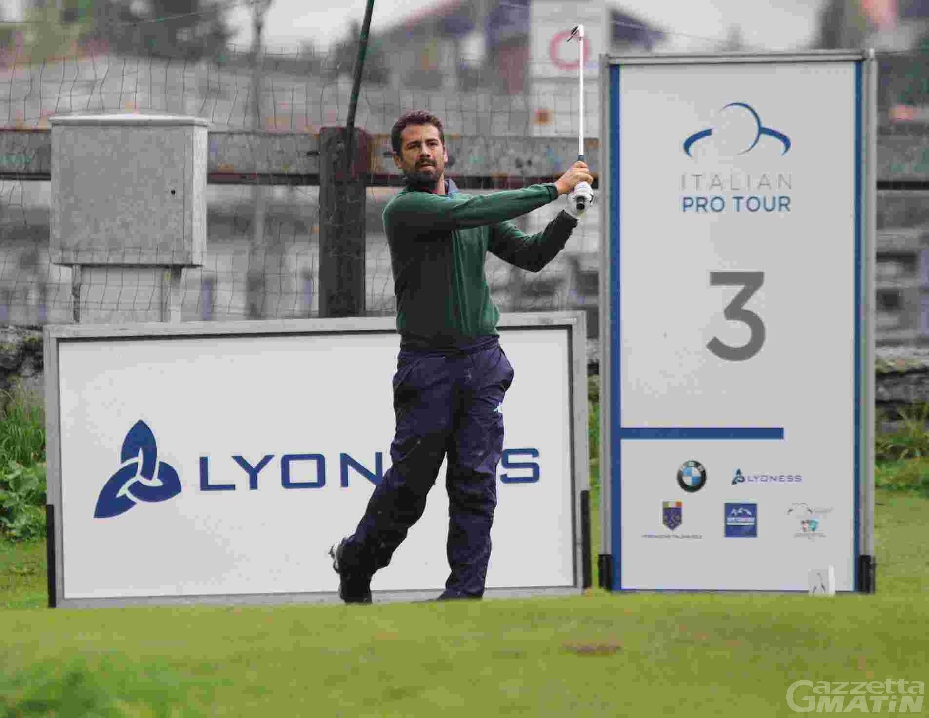 Golf: Nunzio Lombardi in vetta al Cervino Open