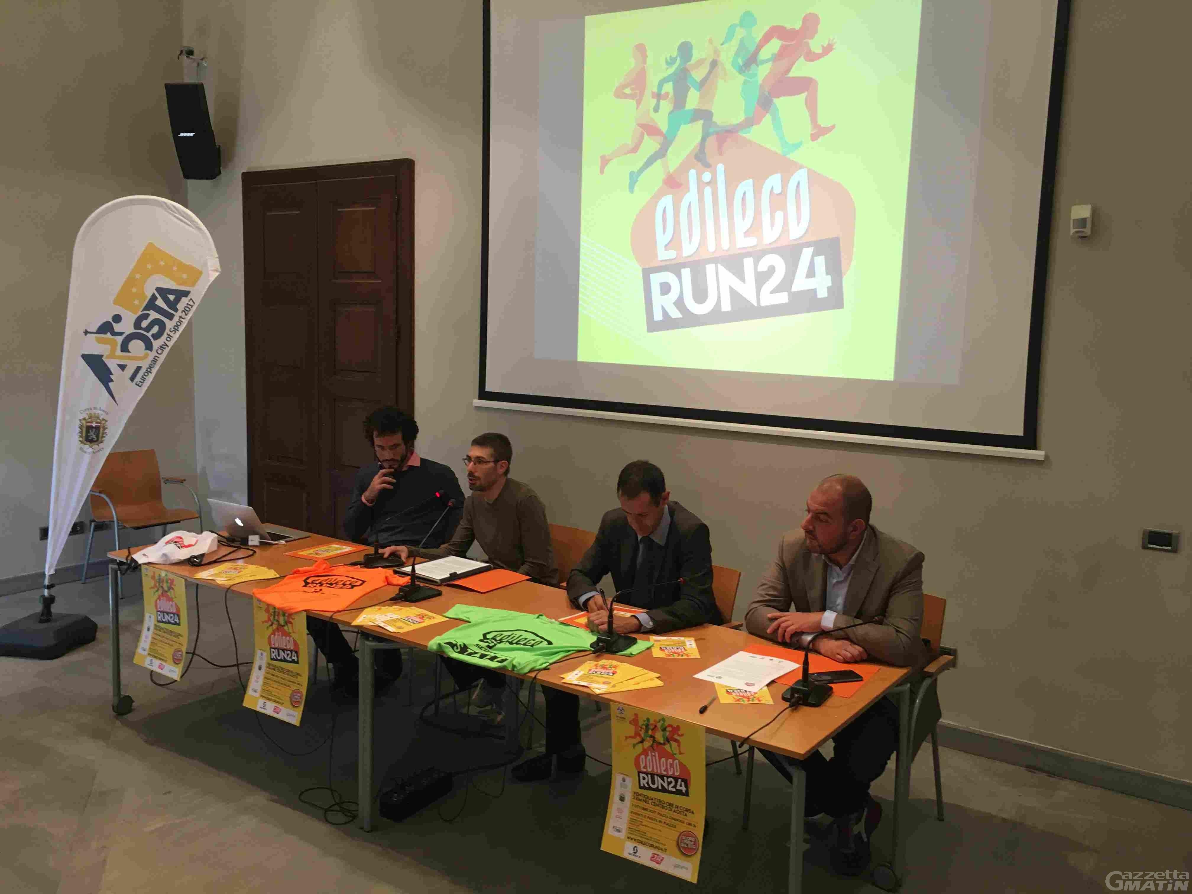 Podismo: una staffetta di 24 ore nel centro di Aosta