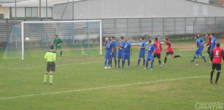 Calcio: solo un pari per l'Aygreville a San Maurizio