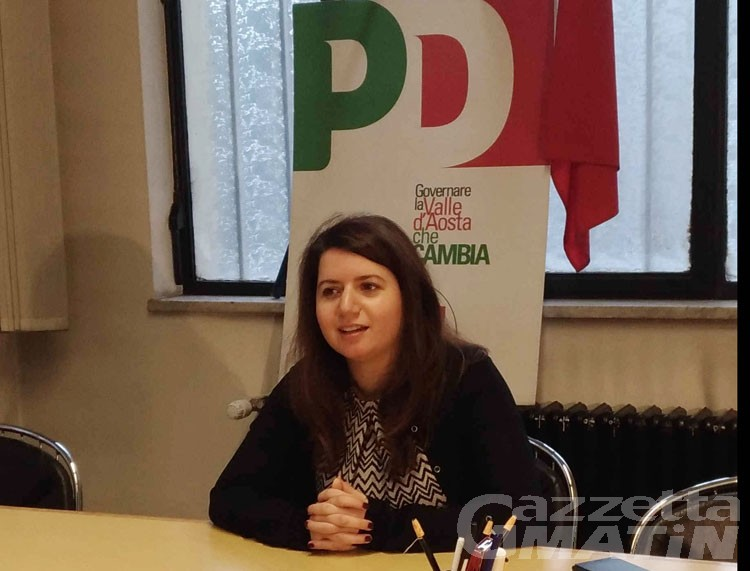 Scissione Pd VdA: Sara Timpano segretario dem dice «il nemico non è Italia Viva»