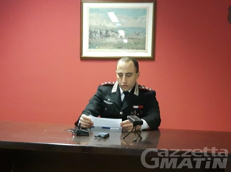 Carabinieri Aosta: reati in calo in alta Valle