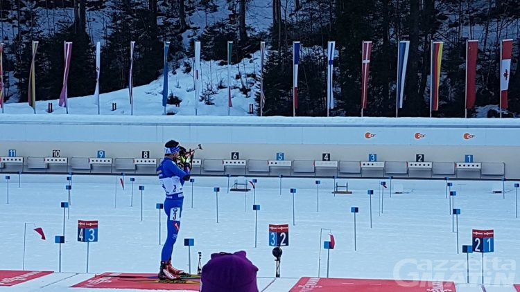Biathlon: l'Italia scivola giù dal podio a Ruhpolding