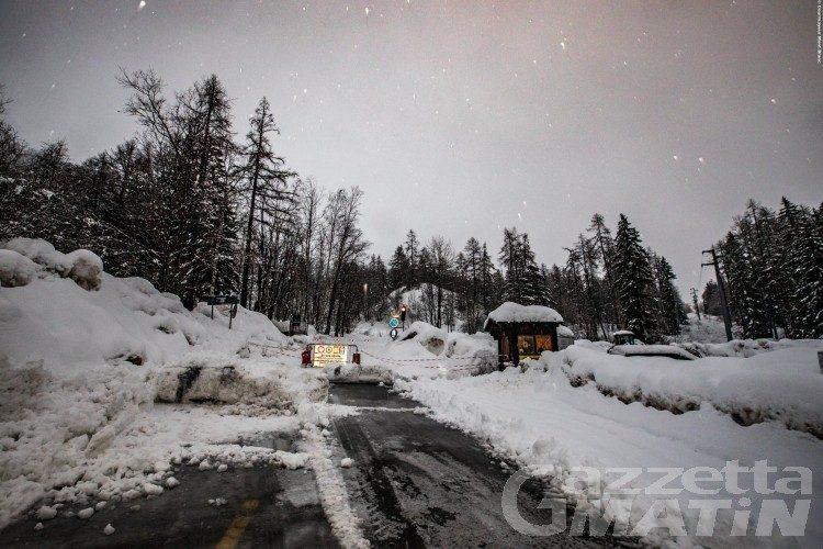 Maltempo, chiusa la strada Larzey-Entrèves a Courmayeur