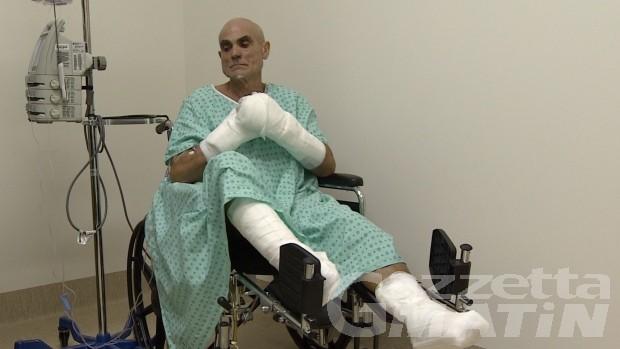 Roberto Zanda, dal Canada ad Aosta per cercare di salvare mani e piedi congelati