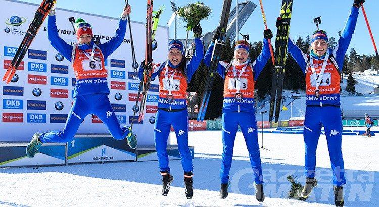 Biathlon: Nicole Gontier terza in staffetta a Holmenkollen