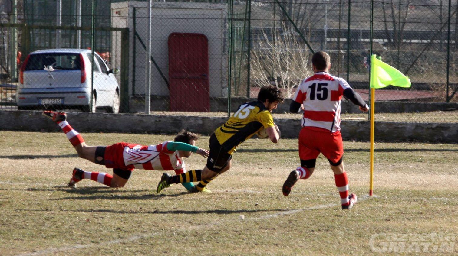 Rugby: lo Stade Valdôtain cerca il riscatto a casa del Rivoli