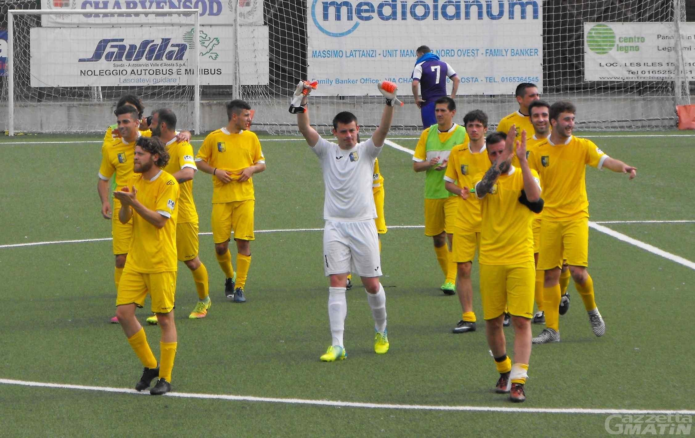 Calcio: lo Charvensod batte il Settimo e avanza