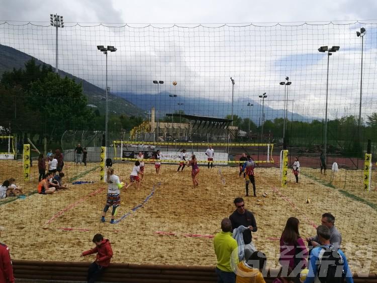 Sarre, inaugurati i campi da beach volley