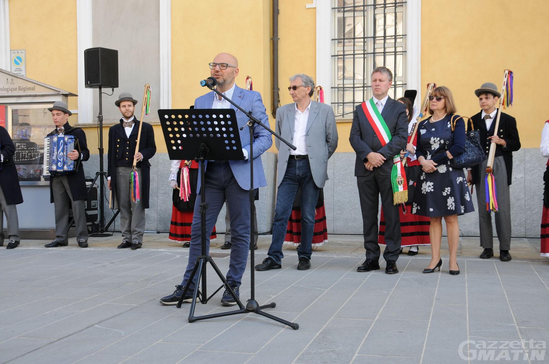Aosta, Piazza Roncas restituita ai cittadini