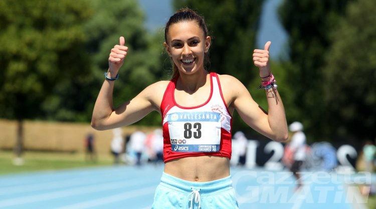 Atletica: Eleonora Foudraz oro tricolore Junior sui 400 piani