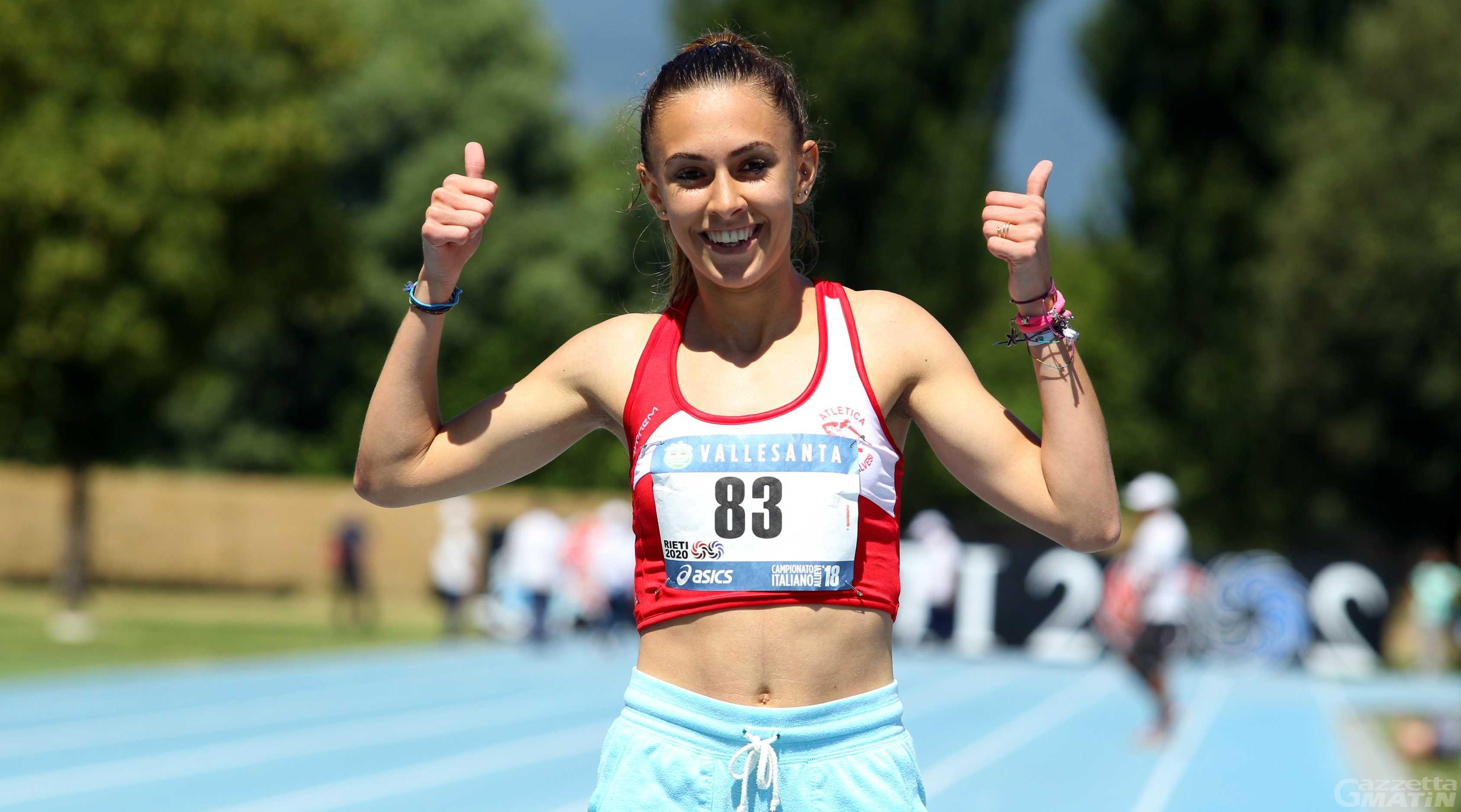 Atletica: Eleonora Foudraz al raduno azzurro pre-europei