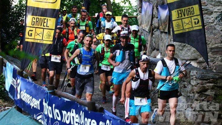 Trail: a Quart trionfano Franco Collé e Gloriana Pellissier
