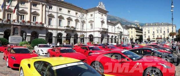 "Ferrari: partita da Aosta la ""Cavalcade"". Oggi sfilata a Saint-Vincent"