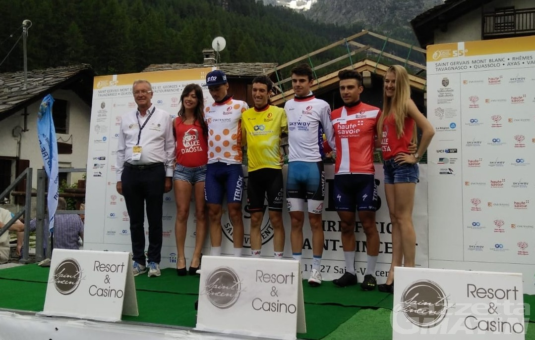 Giro della Valle: Matteo Bellia nuova maglia gialla