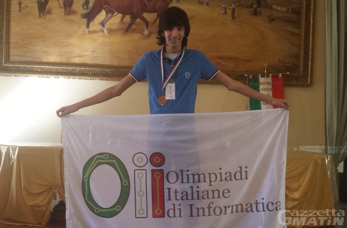 Studente valdostano medaglia di bronzo alle Olimpiadi di informatica