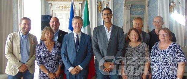 Una delegazione di Albertville in visita ad Aosta