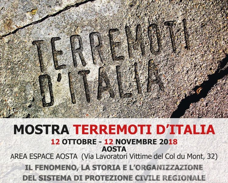 Mostre: i terremoti d'Italia all'Area Espace di Aosta