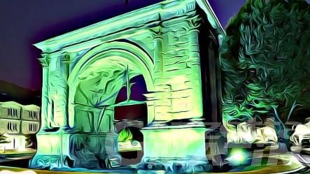 Ictus cerebrale, l'arco d'Augusto si colora di verde