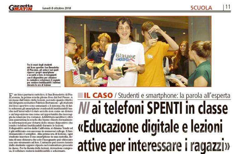Scuola e smartphone, la parola all'esperta