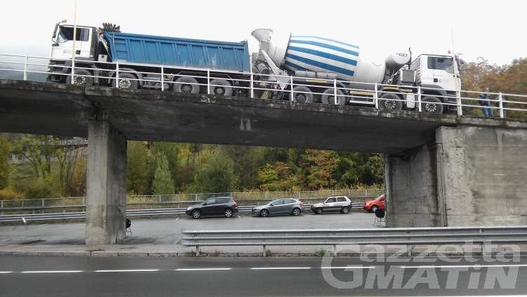 Sicurezza stradale, oggi verifiche al ponte di Chevril, ad Aymavilles