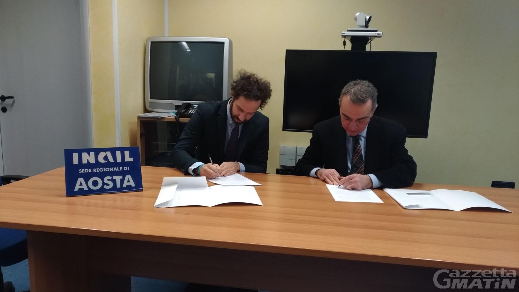 Incidenti sul lavoro: protocollo d'intesa tra la Procura e l'Inail di Aosta
