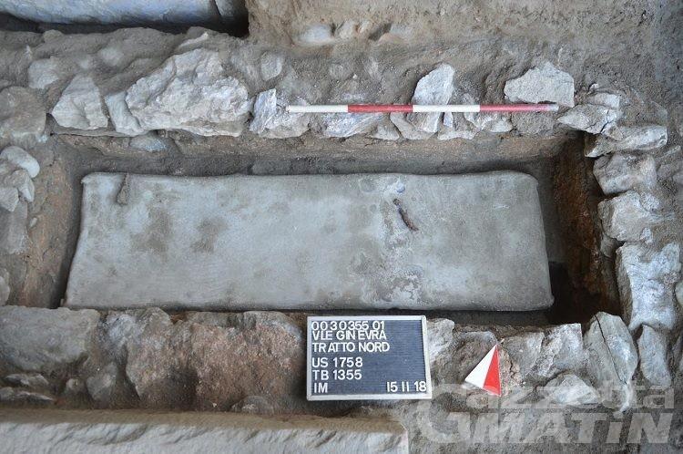 Scavi Ospedale Aosta: dopo il guerriero celtico, ritrovati due sarcofagi di epoca romana