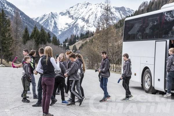 Trasporti, servizio bus gratis a Brusson e Ayas