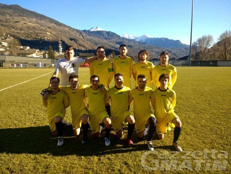 Calcio: lo Charvensod vince il derby del Perucca