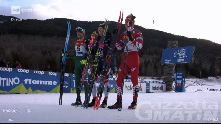 Tour de ski: fenomeno De Fabiani, è secondo in Val di Fiemme