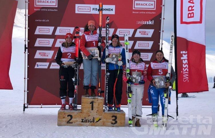Sci alpino: buon quinto posto di Héloise Edifizi a Zinal