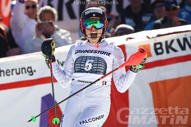 Sci alpino: splendido terzo posto di Federica Brignone