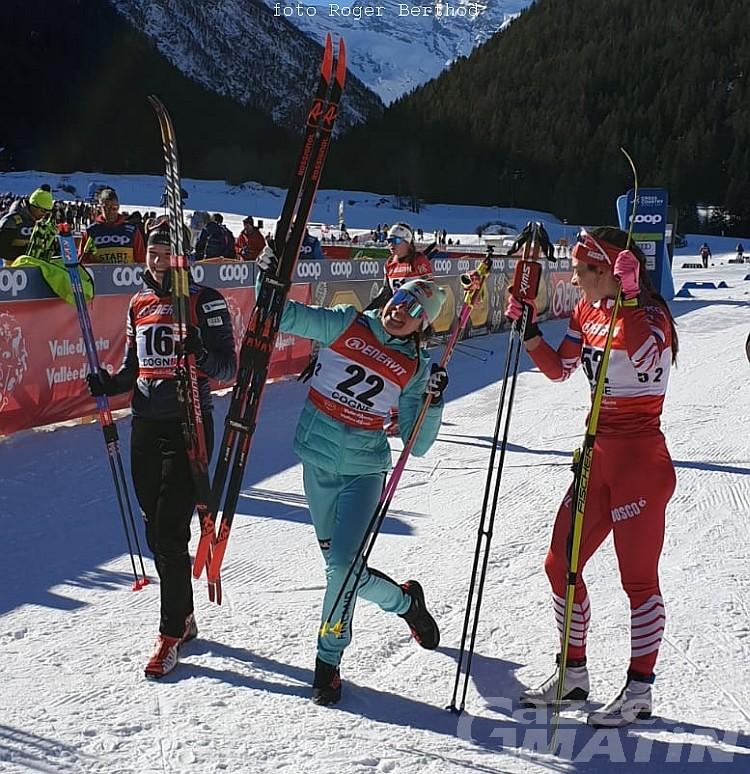 Fondo: Kerttu Niskanen vince a Cogne