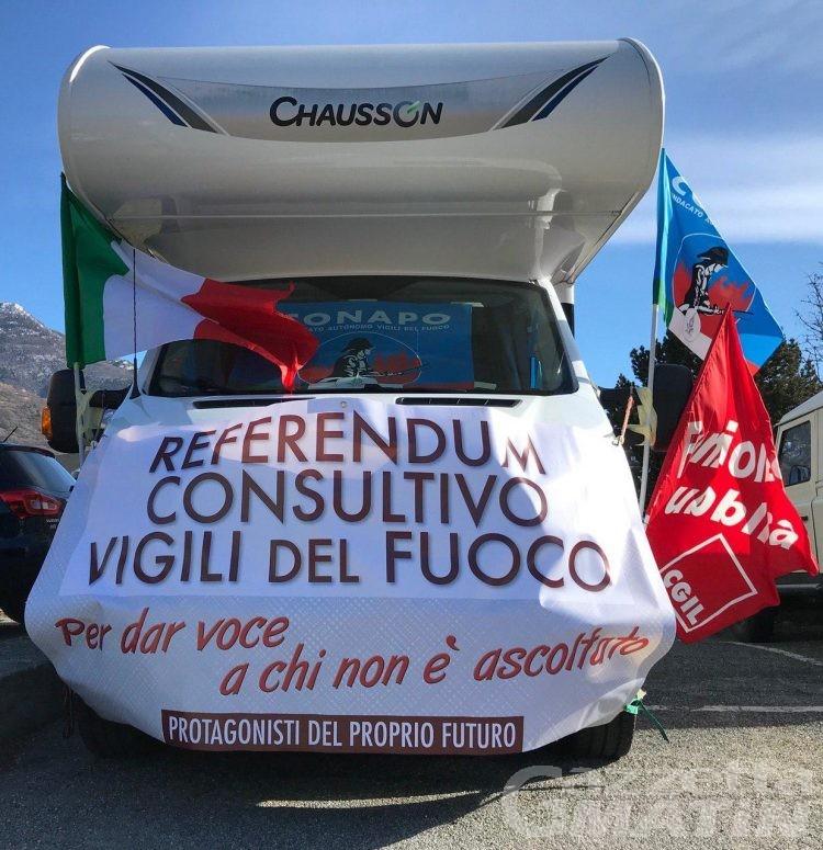Vigili del Fuoco: referendum, voto in camper