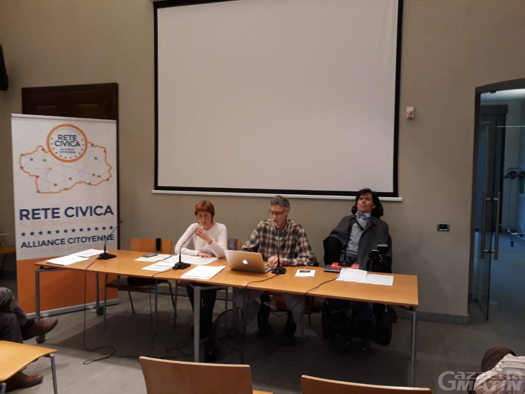 Rete civica: via Rollandin dalla vicepresidenza del Consiglio
