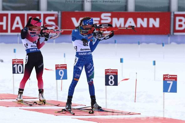 Biathlon: all'Italia non basta una super Nicole Gontier