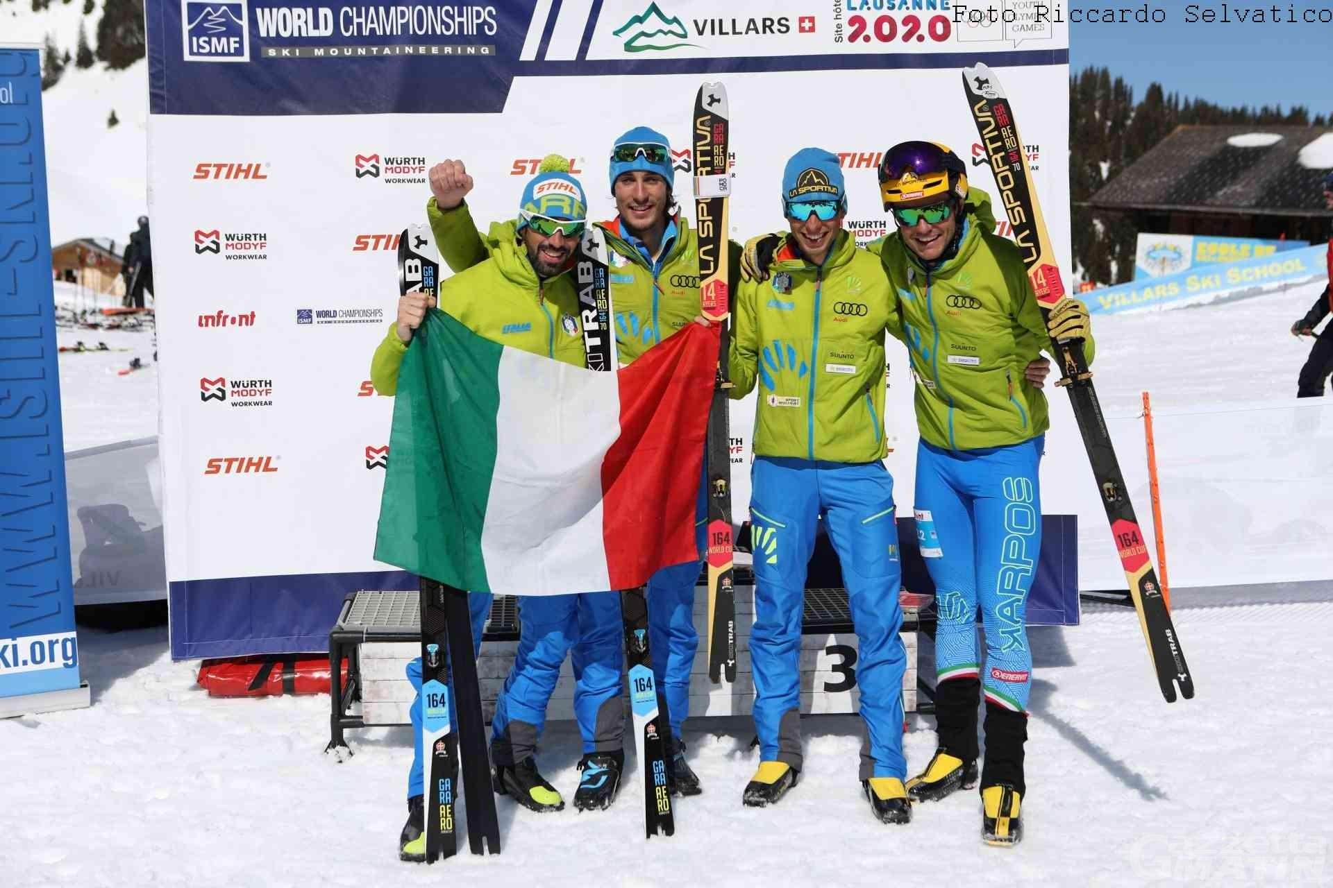Skialp: Nadir Maguet campione del mondo con la staffetta