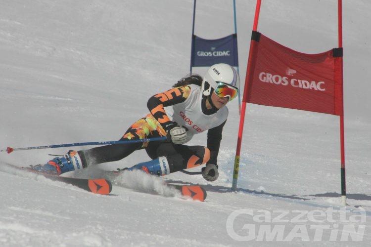 Sci alpino: assegnati i titoli valdostani Children di gigante