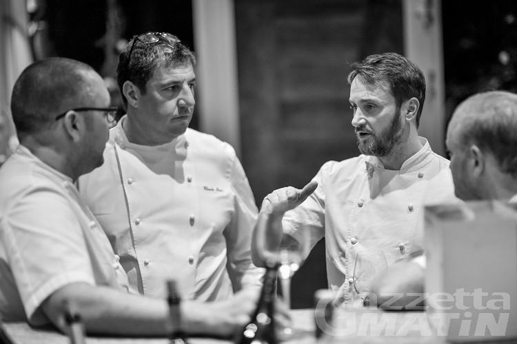 Gli chef stellati Tom Kerridge e Claude Bosi a Courmayeur