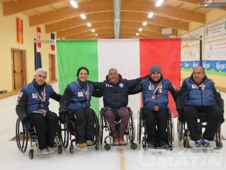 Wheelchair curling: la Disval bronzo tricolore a squadre