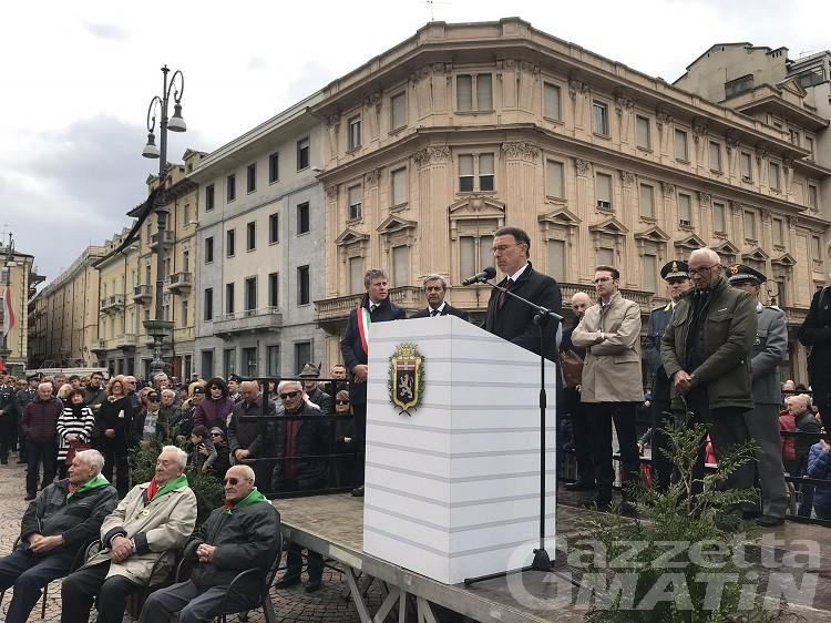 25 aprile in Valle d'Aosta, il senatore Lanièce: sempre più festa della memoria