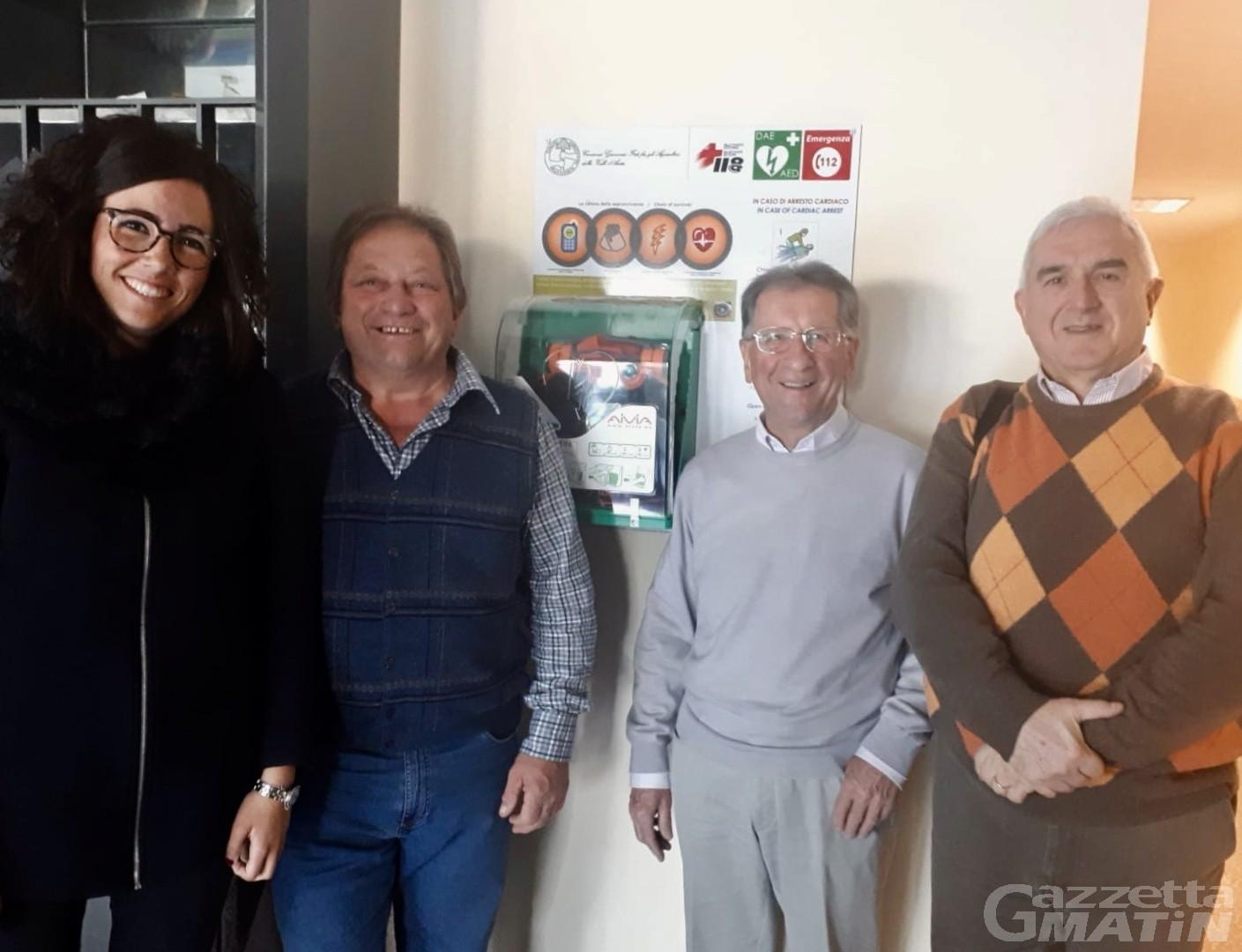 Aosta: il centro direzionale Miroir ha un defibrillatore